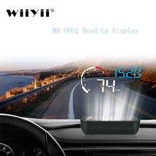 WiiYii M10 OBD2 HUD Head Up Display Per Auto styling Display Sistema di Allarme di Velocità Eccessiva Attenzione Parabrezza Proiettore Del Proiettore Universale