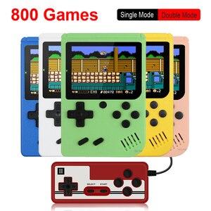 Image 1 - 800 IN 1 레트로 비디오 게임 콘솔 휴대용 게임 휴대용 포켓 게임 콘솔 어린이를위한 미니 핸드 헬드 플레이어 선물