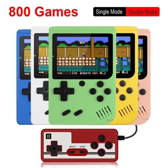 800 IN 1 레트로 비디오 게임 콘솔 휴대용 게임 휴대용 포켓 게임 콘솔 어린이를위한 미니 핸드 헬드 플레이어 선물