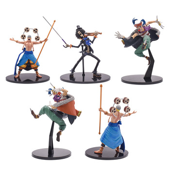 One Piece Buggy Figure Brook Enel Toy Anime Figure  PVC Action Figure Collectible Model Christmas Gift Toy shf s h figuarts takarai rihito body kun pale orange color ver pvc action figure collectible model toy