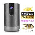 Новый D29 Full HD проектор Android 7,1 (2 ГБ + 16 Гб) родной 1920x1080 5G Wi-Fi проектор DLP поддержка 4K 3D зум Видео игры Projetor