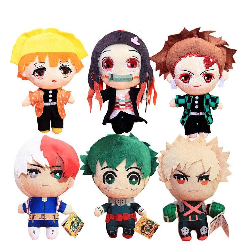23 CM Anime My Hero Academia Izuku Midoriya Katsuki Bakugou Shouto Todoroki Plush Toys Soft Stuffed Anime Dolls For Kids Gifts