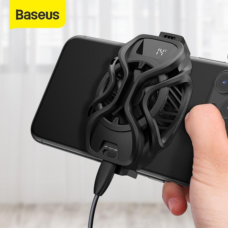 Baseus мобильный телефон охладители холодильными охлаждения радиатора игровой универсальные чехлы для мобильного телефона держателя вентил...