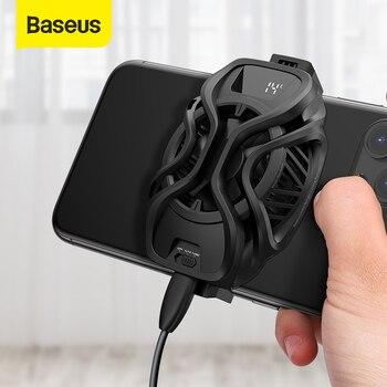 Baseus Mobile Phone Coolers Refriger Cooling Radiator Gaming Universal Phone Fan Holder For PUBG Mobile Game