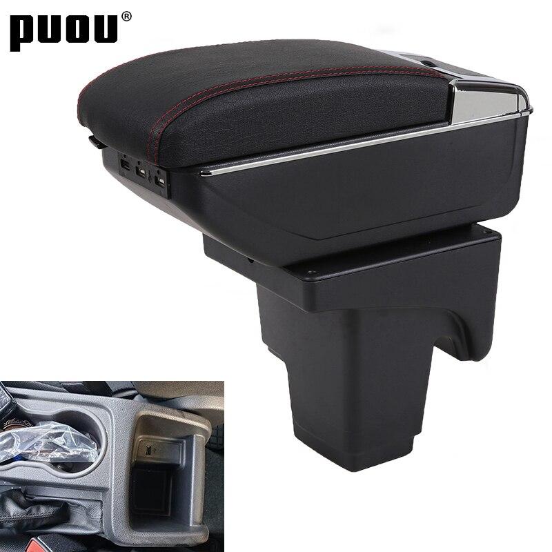 Подлокотник для Ford focus 3, двухслойный вращающийся центральный ящик для хранения вещей с подстаканником, usb-интерфейс, декоративные аксессуар...