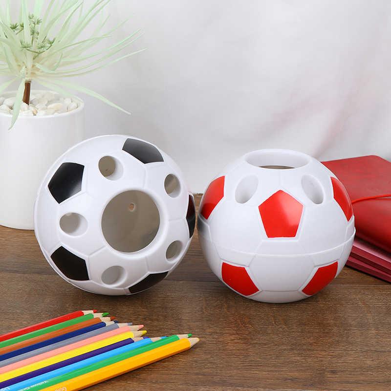 ลูกฟุตบอล 1pc แปรงสีฟันรูปแปรงสีฟันผู้ถือดินสอปากกา Desktop Rack ของขวัญนักเรียน