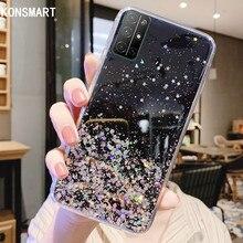 KONSMART Case For Huawei Honor 30 30S V30 Glitter Soft Phone Case Honor 20 20Pro Honor 20 Lite 20S V20 20i Star Clear Back Cover ultra thin matte soft cover for huawei honor 20 phone cases 20 pro 20i 20s 10 lite slim tpu case for honor 10 lite 20 20pro 20i