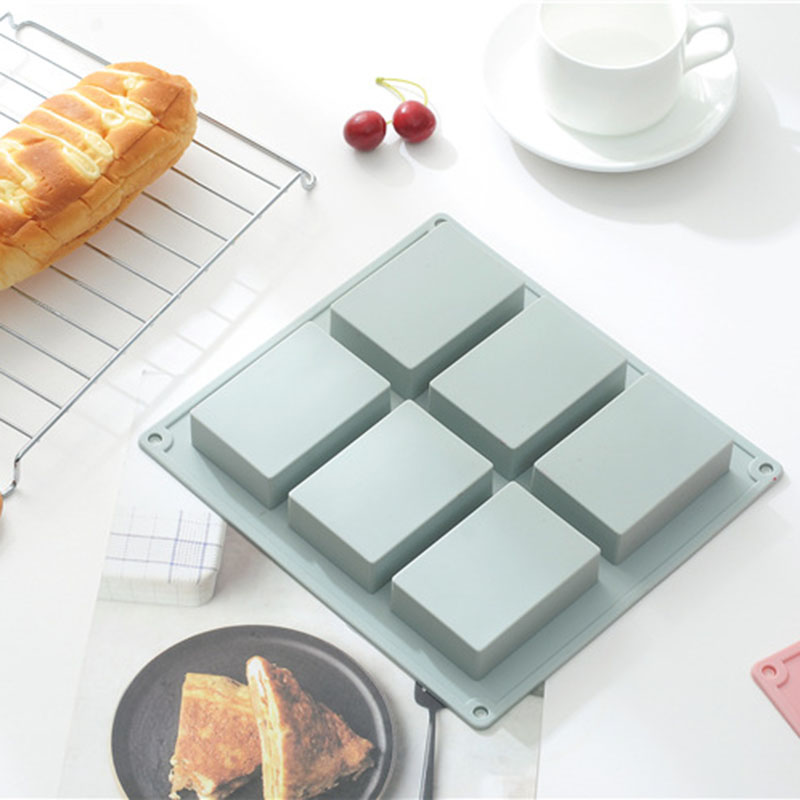 Kitchen Accessories Silicone Mold Cake Decorating Tools DIY 6 Grid Rectangular Mold Chocolate Mold Baking Tool Reposteria in Cake Molds from Home Garden