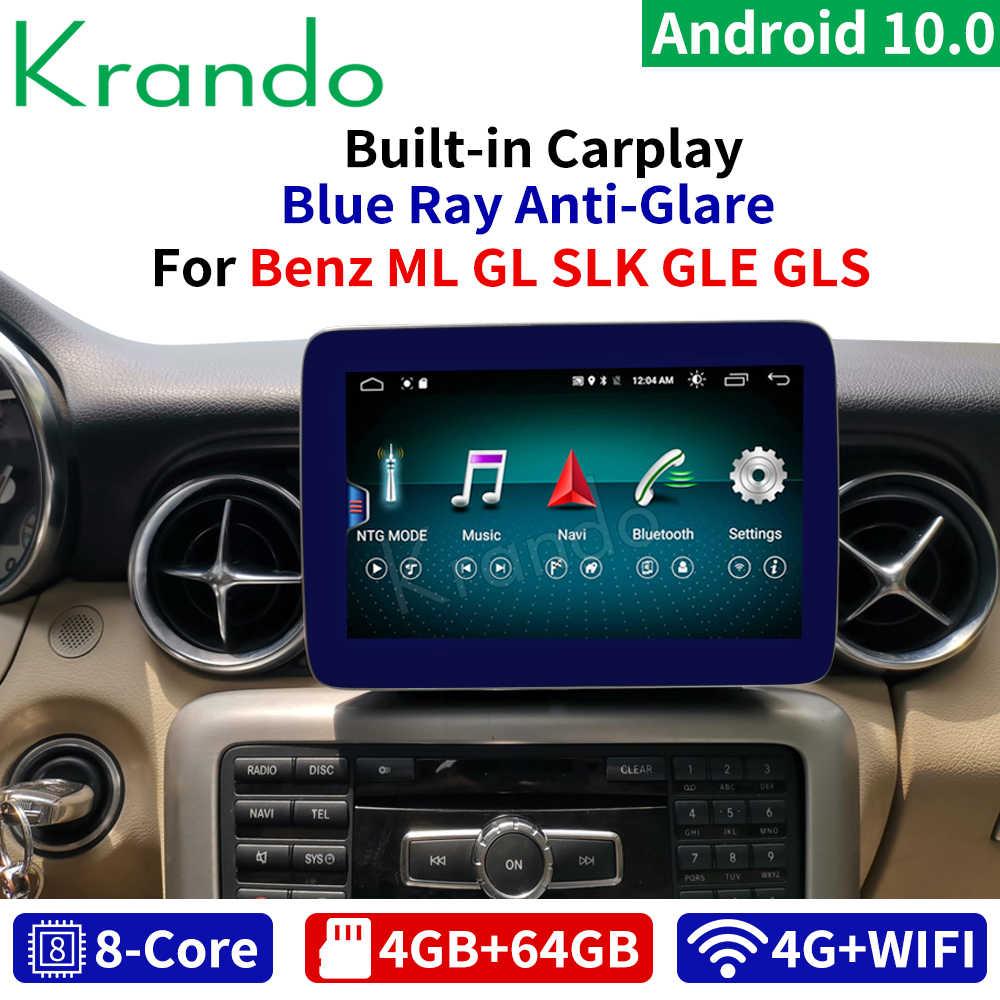 Krando Android 10.0 9 ''4G 64G Autoradio Voor Mercedes Benz Slk Ml Gl Gls Gle 2011-2018 Ntg 4.5 5.0 Multimedia Audio Bluetooth