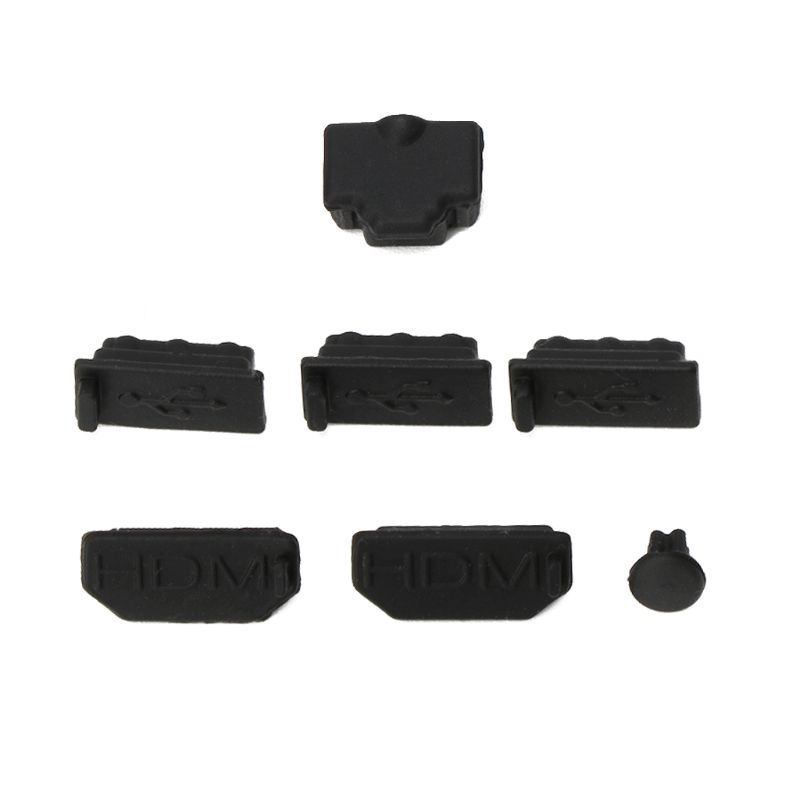 7Pcs Dust Plug Silicone Dust Proof Cover Stopper Dustproof Case Kits for xbox one X Gaming Console H55F