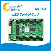 Полноцветный светодиодный видеодисплей 5A 75B с Цветной подсветкой, синхронная карта управления, светодиодный экран, плата привода 5A 5A 75 светодиодный ная карта приема
