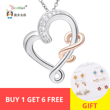 925 Sterling Silver Chain Pendant Necklace Fine Jewelry I love My MOM Rose Gold Necklaces&Pendants For Women Friends women gifts цена 2017