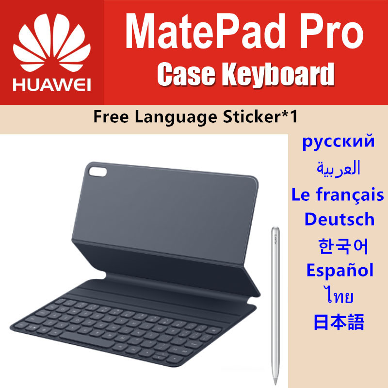 HUAWEI MatePad Keyboard Case 10.8' Stylus Magnetic Bluetooth Leather MatePad Pro Keyboard Smart Stand Folio Cover ES RU Sticker