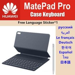HUAWEI MatePad etui na klawiaturę 10.8 'stylus magnetyczny Bluetooth skóra MatePad Pro klawiatura inteligentny stojak Folio pokrywa ES RU naklejka