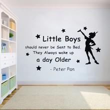 Custom name Wall Sticker Never Grow up vinyl Cartoon wall art Decals Pirates Ship Decal Hook Kids Bedroom decor HY750