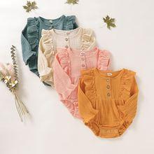 Хлопковая муслиновая одежда для маленьких девочек Летний Новый