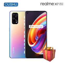 Realme x7 Pro 5G мобильный телефон MTK Dimensity1000 + 4500 мА/ч, 65 Вт Супер SmartVOOC 8 ГБ 128 120 Гц Экран частота обновления 64MP смартфон