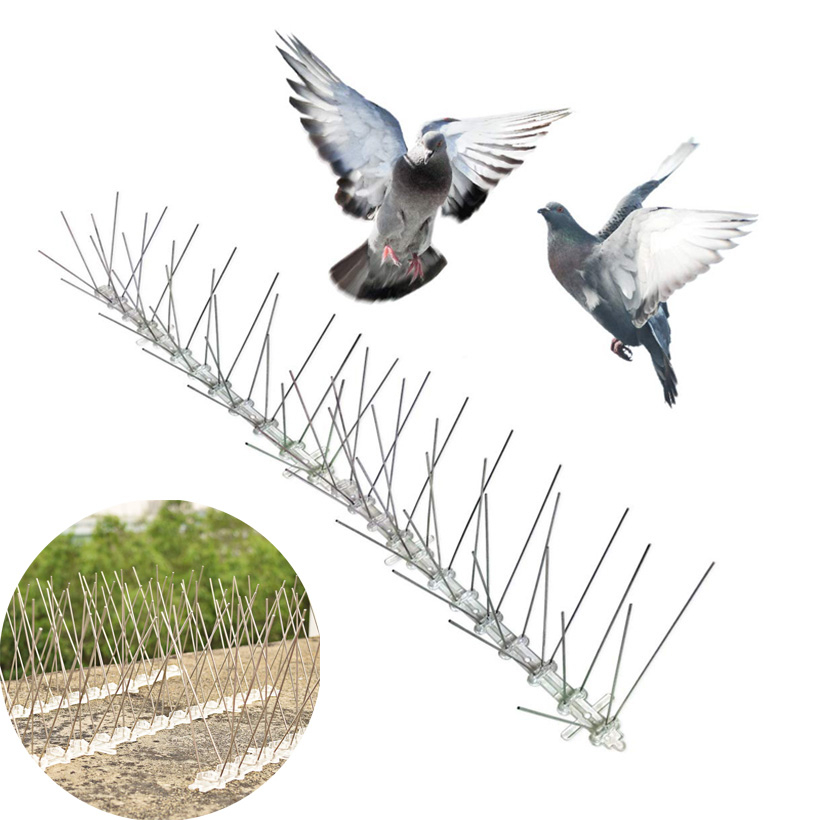 10M Plastic Pigeon spikes Birds Pest Control Repeller Anti Bird Anti Pigeon Spike For Get Rid Of Pigeons And Scare Bird Dropship in Repellents from Home Garden