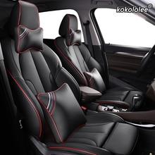 Kokololee niestandardowe skórzane siedzenia samochodu pokrowce do bmw serii 7 F01 F02 F03F04 G11 G12 E65/66 X1 E84 F48 F49 siedzenia samochodowe pokrowce na