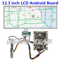 12.3 inch 1920x720 ips lcd panel ultra wide display supermarket advertising shelf screen Android 7.1 control board hdmi driver