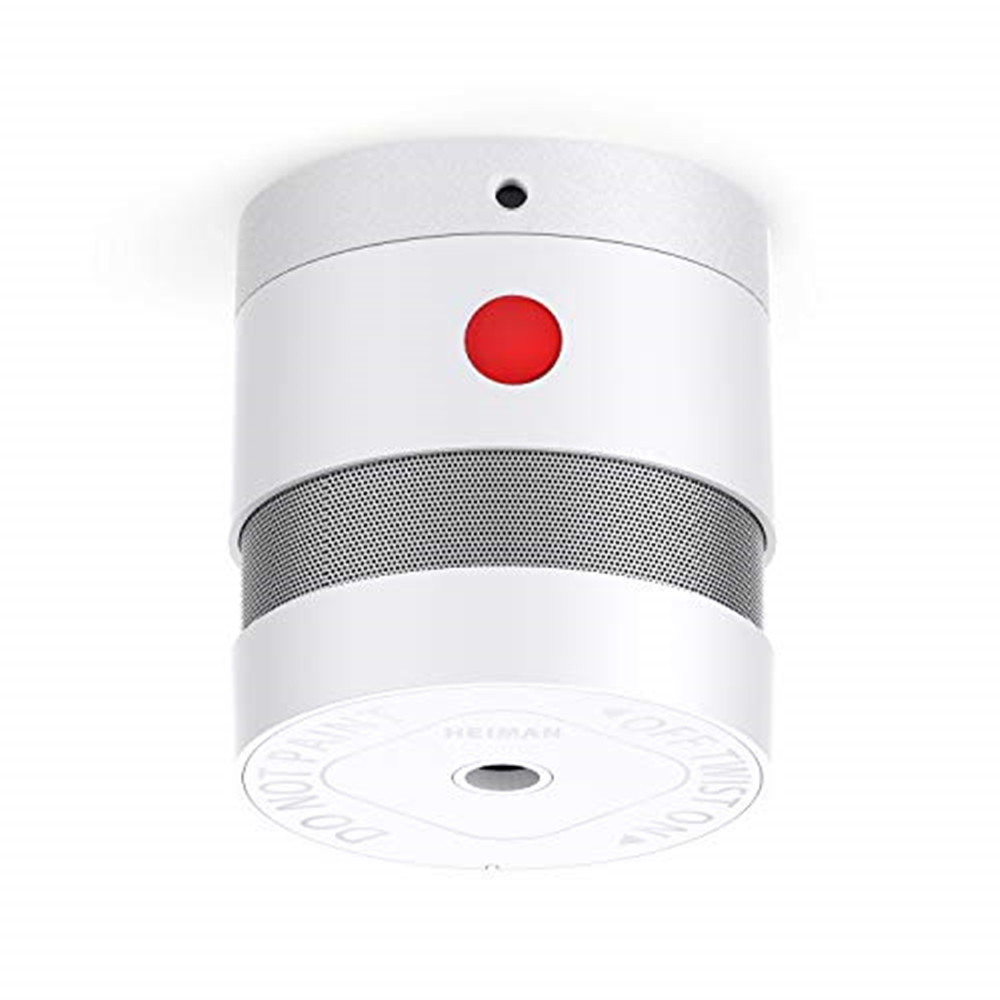 HEIMAN 10-YEAR Mini Smoke Alarm(Battery Included), CE Certified Smoke Detector, Independent Photoelectric Fire Detector-HS3SA