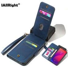 9 pacote de cartão caso couro do plutônio para xiaomi redmi 8 8a nota 8 pro 7a k20 pro sacos de telefone suporte carteira cordão magnético coque