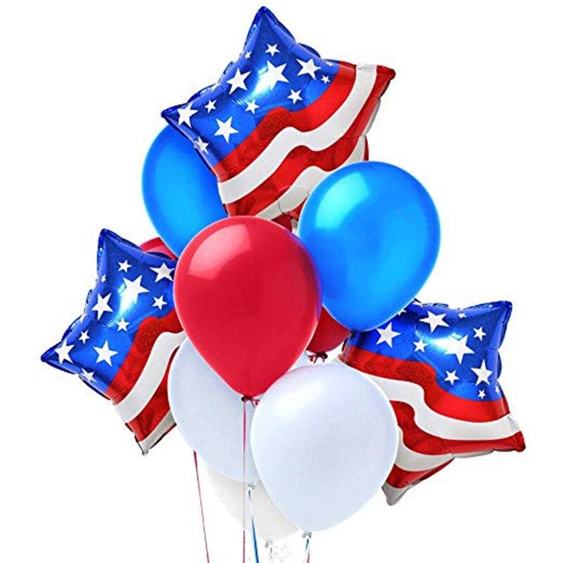 Латексные воздушные шары 12 шт./лот, 2019, день образования США патриот, шары с американскими звездами, праздничные украшения для дня рождения, ...