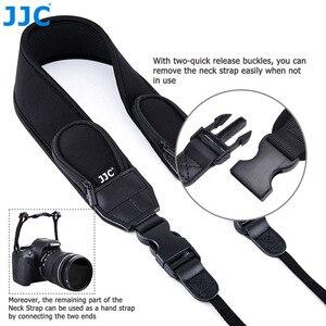 Image 2 - Jjc ajustável liberação rápida confortável câmera alça de ombro pescoço para nikon z6 z7 p1000 d7500 d5600 canon eos r 5dm4 80d 77d 70d t7i