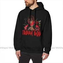 Trippie Redd bluza z kapturem Trippie Redd VINTAGE bluzy mężczyźni Streetwear pulower z kapturem przyjemny na zimę fioletowy długa z bawełny ponadgabarytowe bluzy