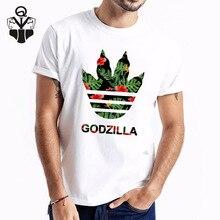 QIM Tshirt Men 2019 Summer Funny Godzilla Print Man Clothes Short Sleeve Fashion New Casual Top tees Shorts