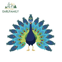 EARLFAMILY 13cm x Peacock Graphics Car Stickers and Decals Motorcycle Vinyl Wrap DIY Decoration Door Bumper Deacls