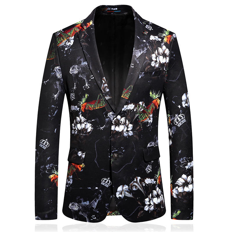 Abrigo De Vestir Hombre Mens Flowered Blazers Casual Mens Styles Blazers Party Blazers Stage Costumes For Male Singers Deginer