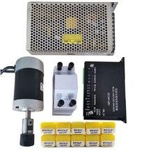 200W/0.2KW /ER16 bezszczotkowy silnik wrzeciona DC + 55MM zacisk ze śrubami + 20-50VDC sterownik silnika krokowego + 48VDC 4.2A zasilacz