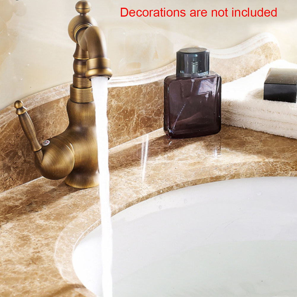 Washbasin Easy Install Antique Brass Solid Multifunction 360 Swivel Mixer Tap Bathroom Home Kitchen Faucet Accessories Retro