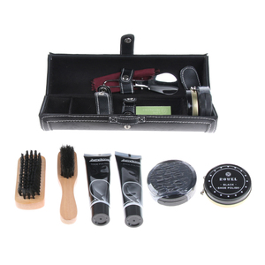 Image 1 - 10 Uds zapato Unisex Kit de cuidado profesional de zapatos botas brillo cepillo polaco Kit para hombres y mujeres