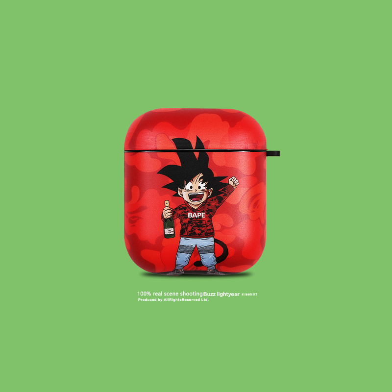 Japan Fashion <font><b>Brand</b></font> Camouflage Dragon Ball Son Goku Headphone <font><b>Cases</b></font> For Apple <font><b>Airpods</b></font> 1/2 Cute Cartoon Silicone Earphone Cover image