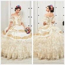 Новое поступление, бальное платье vestidos de 15 años, пышные платья с курткой, милое вечернее платье с аппликацией, 16