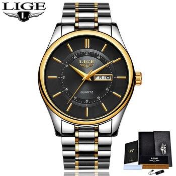 LIGE New Men Watches Top Brand Luxury Fashion Business Quartz Camouflage Watch Men Sport Waterproof Date Clock Relogio Masculino 6