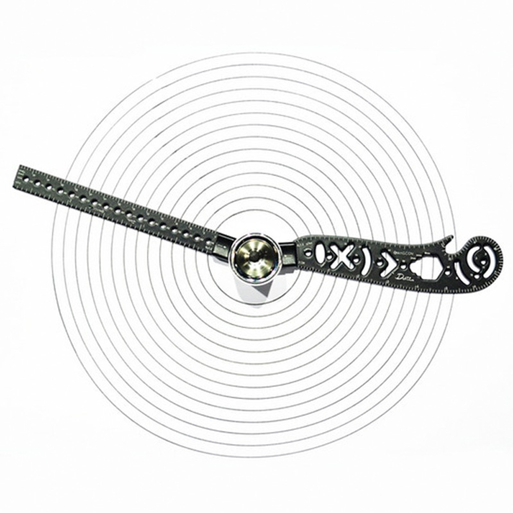 Magnet Multifunctional Measurement Circle Drawing Tool Compass Pattern Measuring Ruler Drawing Tool Magcon