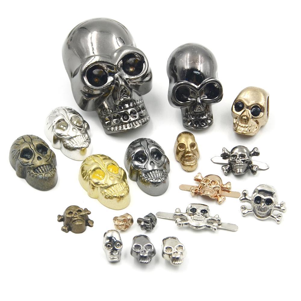 10pcs 7*5mm Mix 2 Colors Skull Rivet DIY Nailheads Studs Spikes Punk Rock