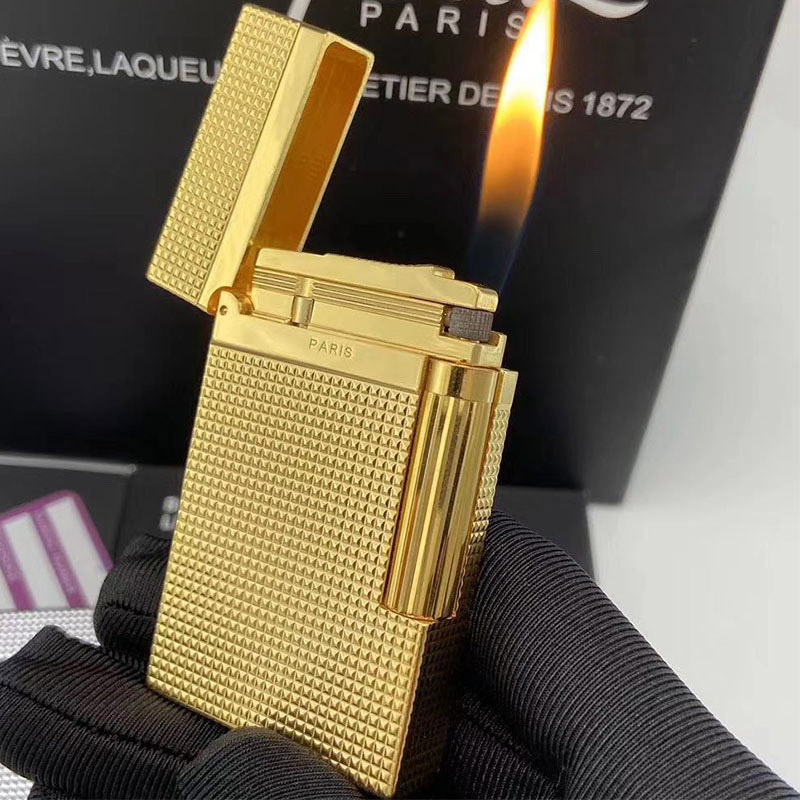 100% New Vintage Dupont Bright Sound Gas Lighter Windproof For Cigarette