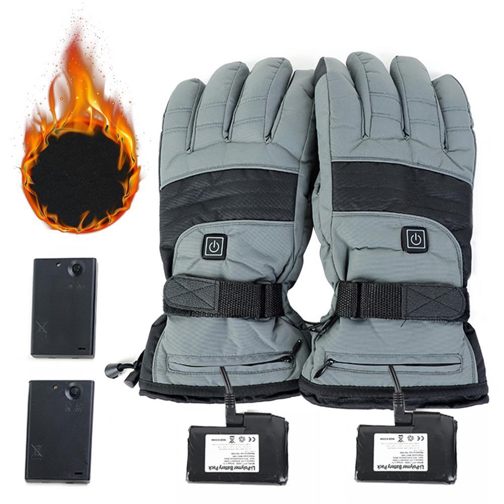 Зимние мужские и женские аккумуляторные перчатки с подогревом для катания на лыжах Mortorcycle для пеших прогулок, рыбалки, охоты, новое поступле...