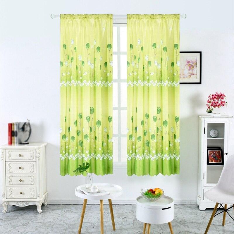 Decor Flower Half Blackout Curtain