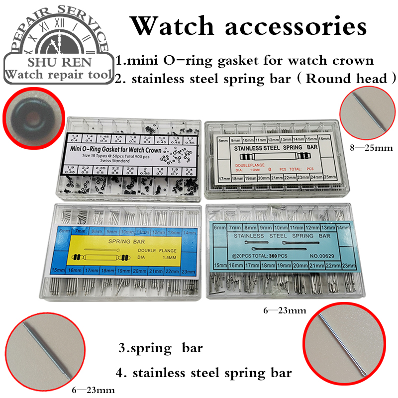 Watch Accessories Stainless Steel Spring Ear Rod Latch Strap Connecting Shaft Spring Needle Watch Accessories Latch