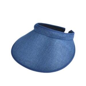 Сезон: весна-лето новый большой соломенная шляпа с широкими полями Солнцезащитный козырек шапка для женщин/летние платья для девочек модные Пустые верхней крышки