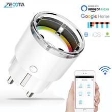 Wifi Smart Plug Power Socket Eu Elektrische Muur Outlets 10A Tijd Voice Draadloze Afstandsbediening Door Tuya Smartlife Alexa Google thuis
