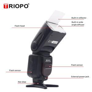 Image 4 - Triopo TR 586EX Wireless Mode TTL Speedlite Speedlight For Canon 5D Nikon D750 D800 D3200 D7100 DSLR Camera as YONGNUO YN 568EX