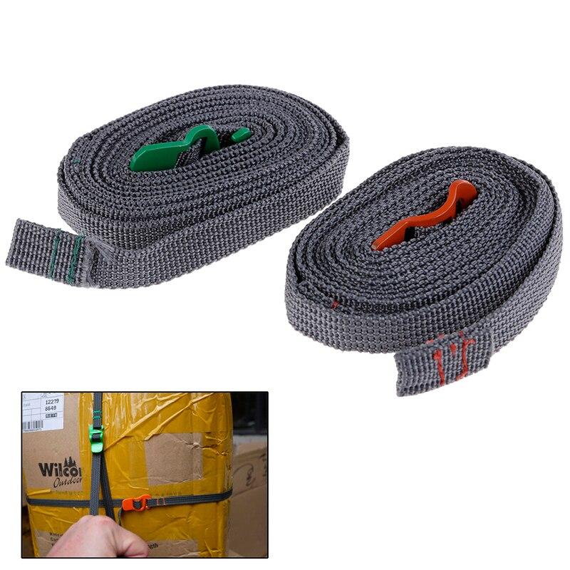 Outil extérieur Durable de sangle de bagage de dégagement rapide de corde de randonnée de Camping avec le crochet d'acier inoxydable