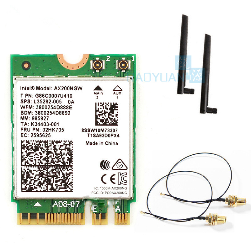 Network-Card Wifi AX200NGW M.2 Bluetooth Wireless Dual-Band 2400mbps NGFF For Intel