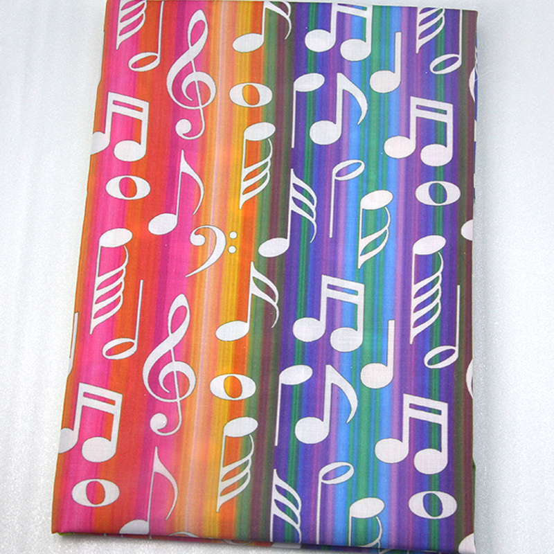 David accessories 50*147cm Music Polyester Cotton Fabric DIY Sewing Tool Tissue Kids Bedding Home Textile Decoration,1Yc7436